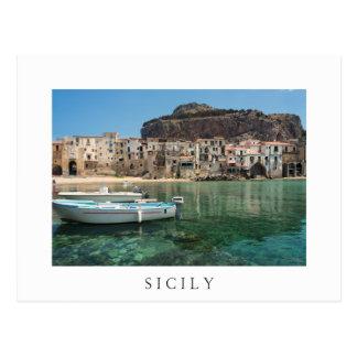 Carte Postale Ville de Cefalu en Sicile