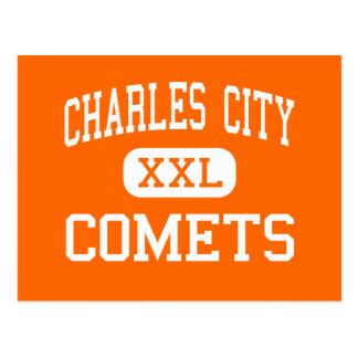 Carte Postale Ville de Charles - comètes - junior - ville Iowa