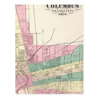 Carte Postale Ville de Columbus, le comté de Franklin, Ohio