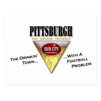 Carte Postale Ville de Drinkin avec un problème du football