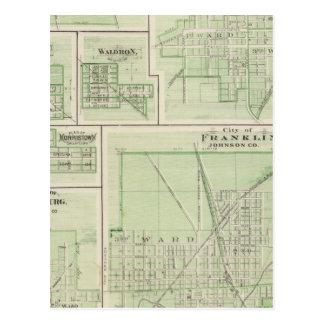 Carte Postale Ville de Franklin, Johnson Co avec Shelbyville
