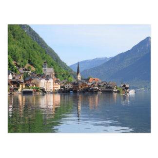 Carte postale - ville de Hallstatt et lac,