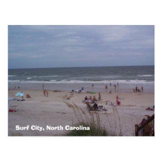 Carte Postale Ville de surf, la Caroline du Nord