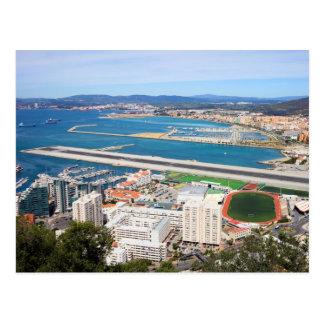 Carte Postale Ville du Gibraltar et piste d'aéroport