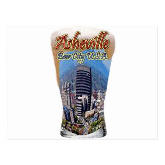 Carte Postale Ville Etats-Unis de bière d'Asheville