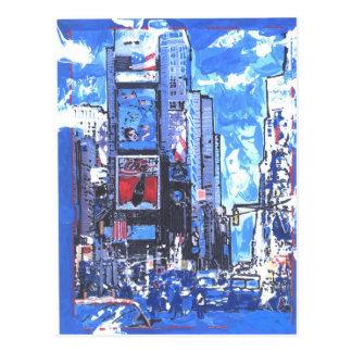 Carte Postale Ville vintage du Times Square N Y d'affiche de