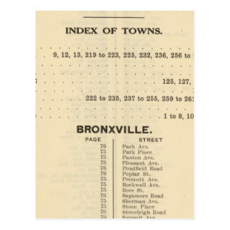 Carte Postale Villes d'index, Bronxville