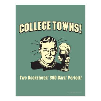 Carte Postale Villes d'université : 2 librairies 300 barres