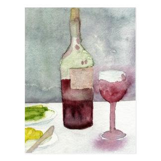 Carte Postale Vin Rosso