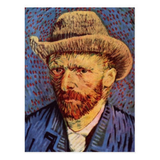 Carte Postale Vincent van Gogh - autoportrait avec le chapeau de