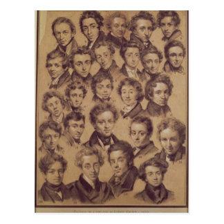 Carte Postale Vingt-cinq élèves du studio d'Antoine