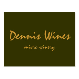 Carte Postale Vins de Dennis