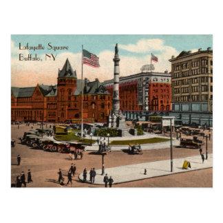 Carte postale vintage carrée de Buffalo de