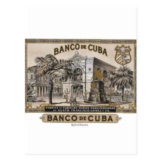 Carte Postale Vintage cubain Banque du Cuba du Cuba