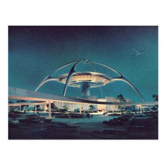Carte postale vintage d'aéroport de LAX Los