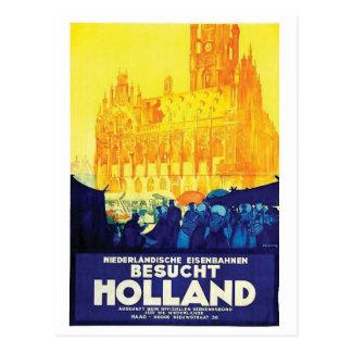 Carte postale vintage d'affiche d'annonce