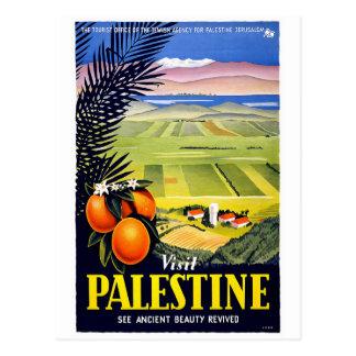 """Carte postale vintage d'affiche de voyage """"de la"""
