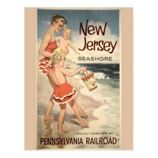 Carte postale vintage d'affiche de voyage de New