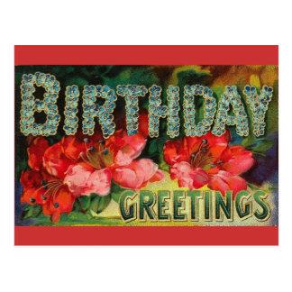 Carte postale vintage d'anniversaire