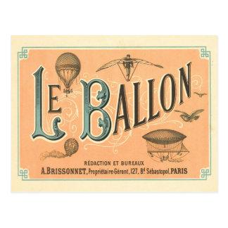 Carte postale vintage de ballon de Paris