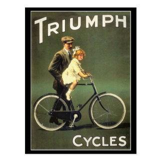 Carte postale vintage de bicyclette :  Cycles de