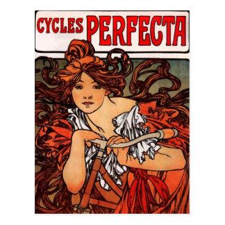 Carte postale vintage de bicyclette d'Alphonse