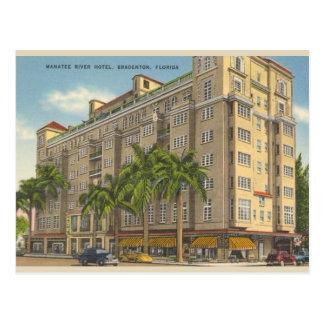 Carte postale vintage de Bradenton la Floride