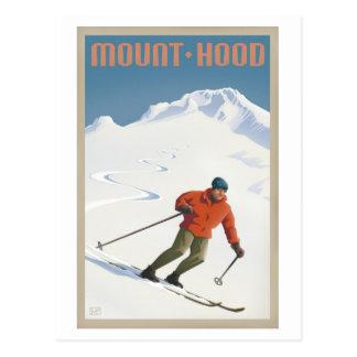 Carte postale vintage de capot de Mt. de ski