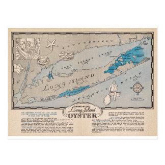 Carte postale vintage de carte d'huître