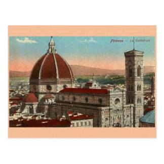 Carte postale vintage de cathédrale de Florence