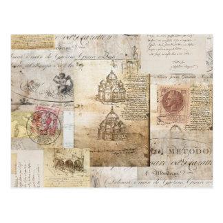 Carte postale vintage de cathédrale de Rome