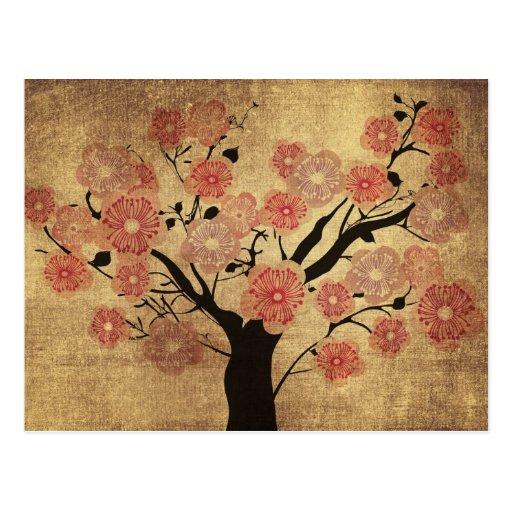 carte postale vintage de cerisier zazzle. Black Bedroom Furniture Sets. Home Design Ideas