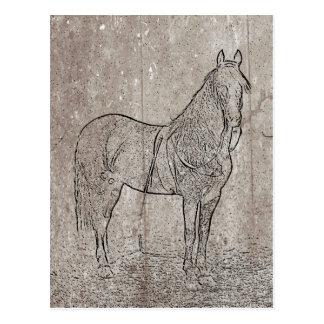 Carte postale vintage de cheval des syndicats de