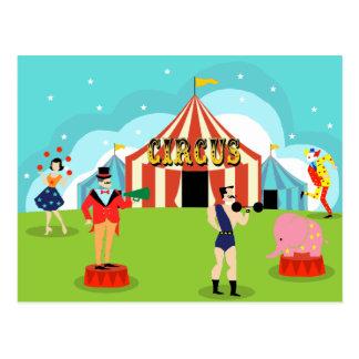 Carte postale vintage de cirque