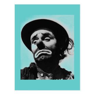 Carte postale vintage de clown