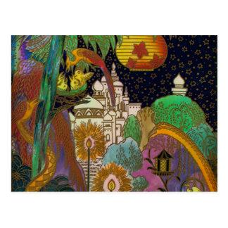 Carte postale vintage de conception de royaume des