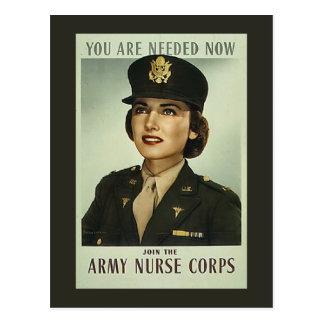 Carte postale vintage de corps d'infirmière