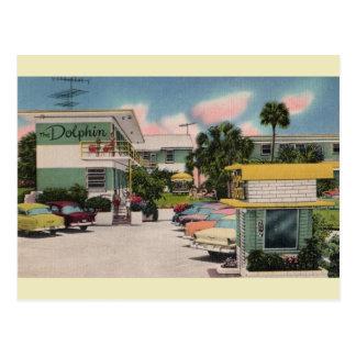 Carte postale vintage de Daytona Beach de motel de