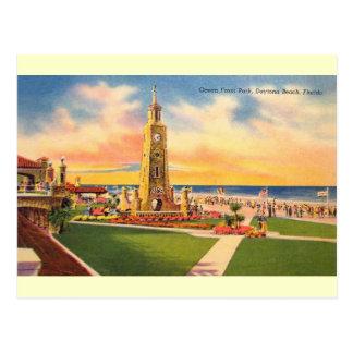 Carte postale vintage de Daytona Beach de parc de