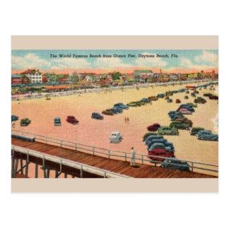 Carte postale vintage de Daytona Beach de pilier