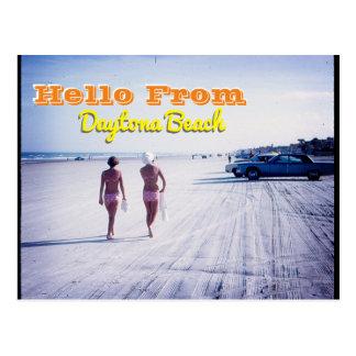 Carte postale vintage de Daytona Beach la Floride