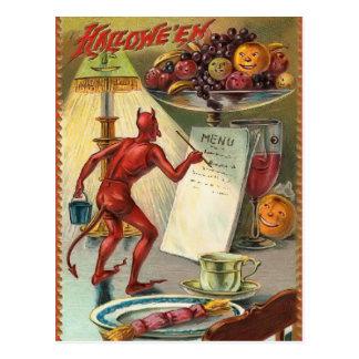 Carte postale vintage de diable