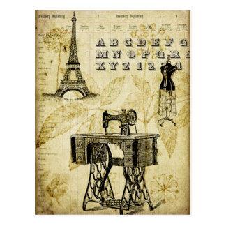 Carte postale vintage de forme de robe de Tour