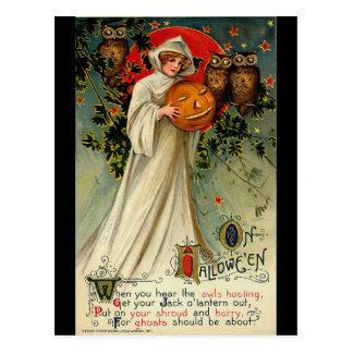 Carte postale vintage de Halloween