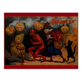 Carte postale vintage de Halloween, repli 1909 de