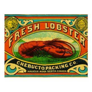 Carte postale vintage de homard de Chebucto