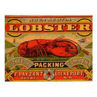 Carte postale vintage de homard de la