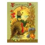 Carte postale vintage de jour de thanksgiving