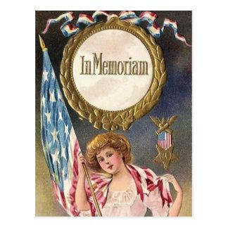 Carte postale vintage de Jour du Souvenir