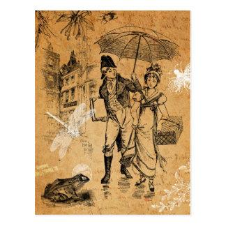 Carte postale vintage de jour pluvieux